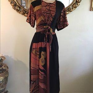 Vintage Beverly Rose Safari Tie dress
